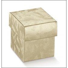 25 Cajas de regalo champagne 5x5x5cms.