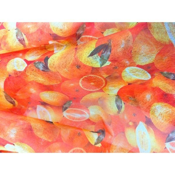 Bobina de papel de fibra, naranjas/limones 75cms x 5m