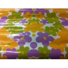 Papel adhesivo flor lila verde 80x110 cms
