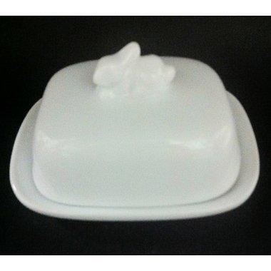 Mantequera porcelana blanca 10 cms