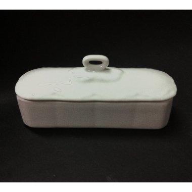 Caja de porcelana blanca 17 cms