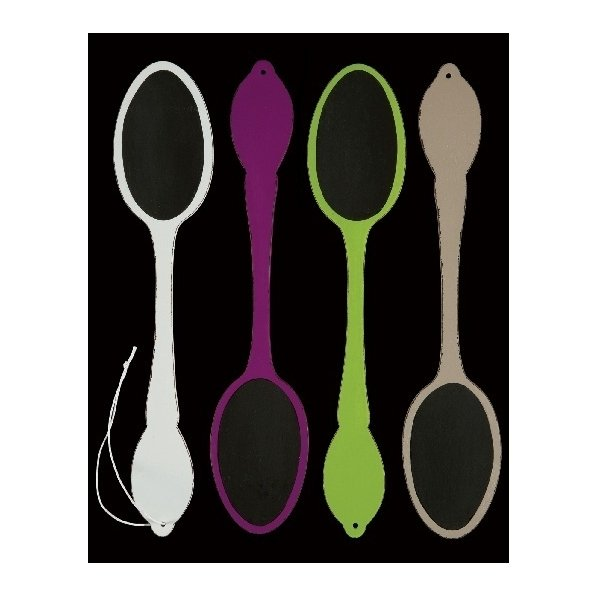 Pizarra cuchara de madera. Varias medidas y colores