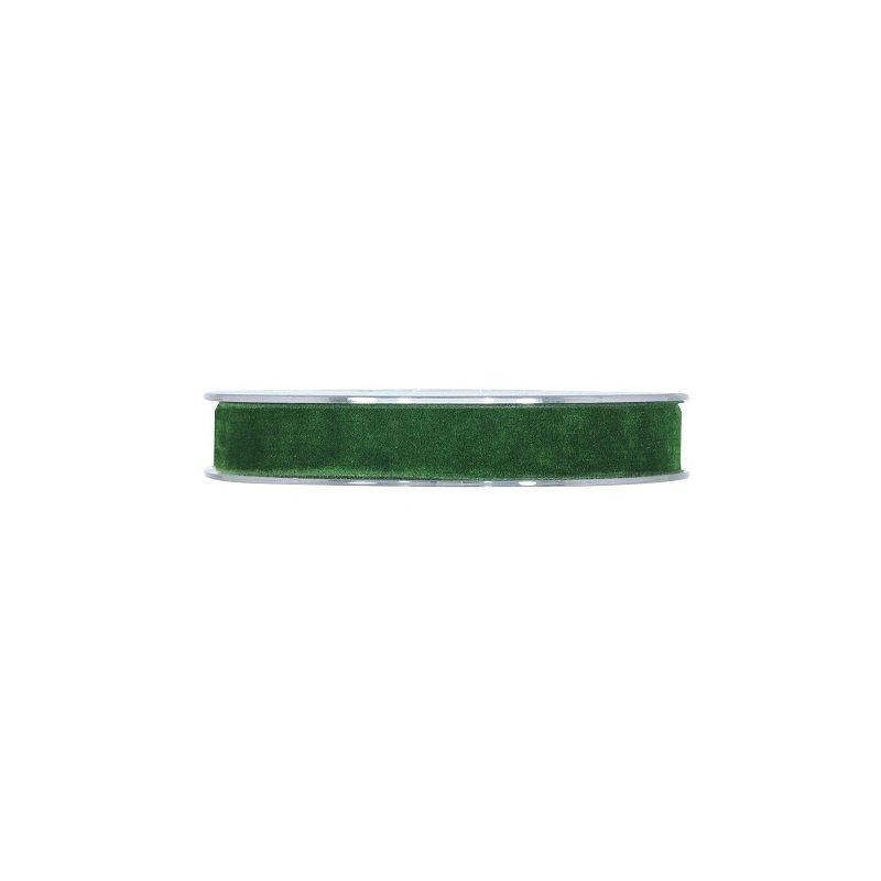 Cinta de terciopelo verde oscuro 15mmx7m