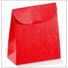 Caja de regalo con solapa, rojo 11.5x18x5.5 C/10 uds.