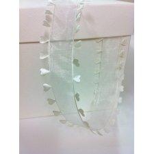 Cinta corazones blanco/crema 40 mm x 15 m