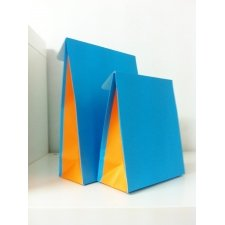 Sobre de regalo con solapa, turquesa/naranja. Varias medidas