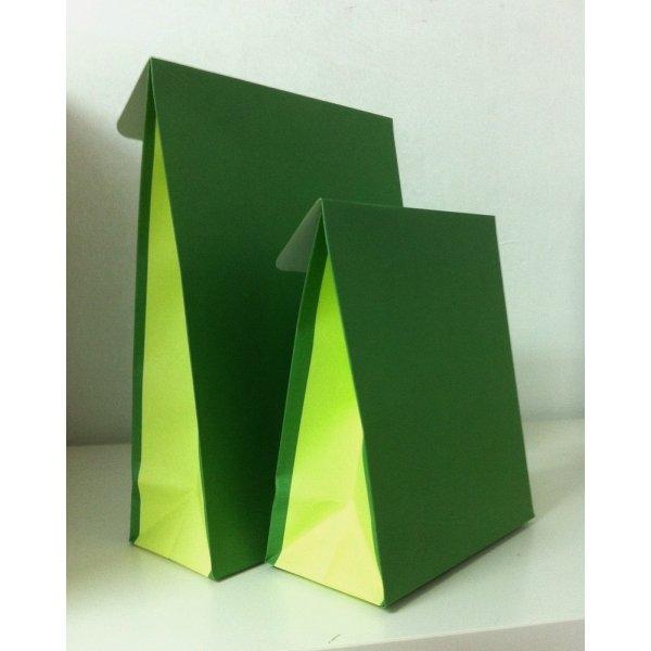 10 Sobres de regalo con solapa, verde/pistacho. Varias medidas