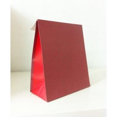 Sobre de regalo con solapa, granate/rojo.