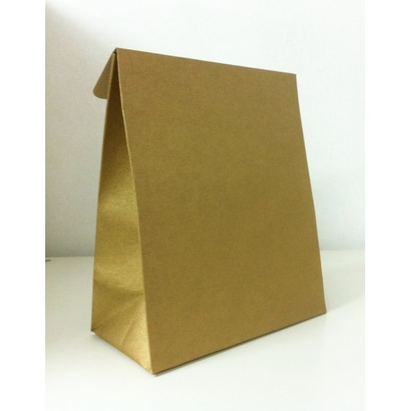 10 Sobres de regalo con solapa, dorado. Varias medidas