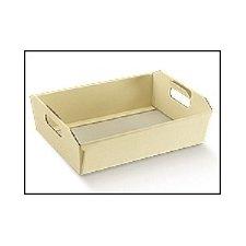 Bandeja de cartón, marfil 40x30x12 cms.
