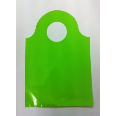Bolsa de asa troquelada verde pistacho 16x25 C/50 uds.