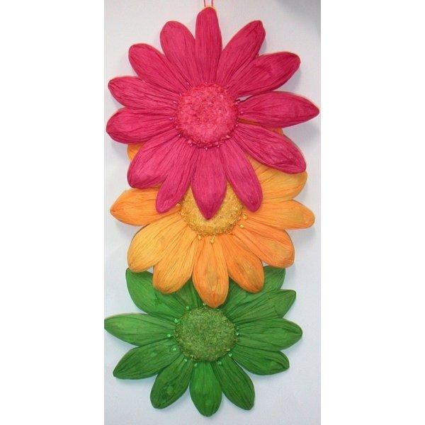 Pack 2 flores de papel 35 cms. Varios colores