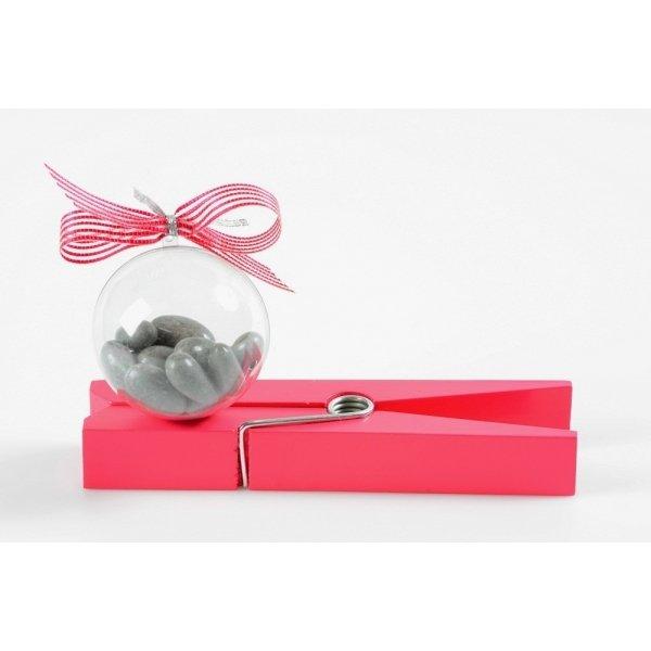 10 Bolas maxi o caja de regalo transparente. 10 cms