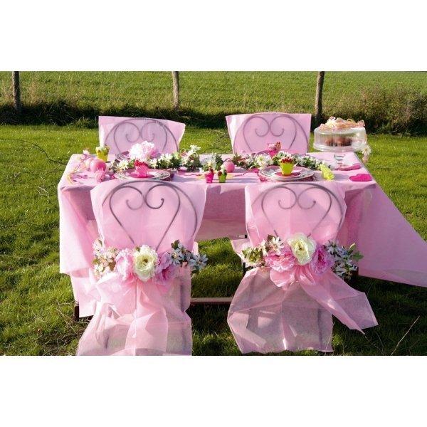 funda para silla para eventos rosa c 10 uds