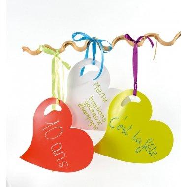 Corazón de cartón 38x38 cms. C/4 uds. Varios colores
