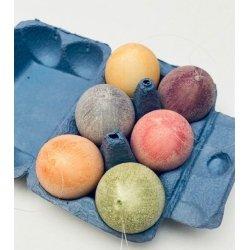 Caja de 12 huevos de pascua 4x6 cms. Colores surtidos
