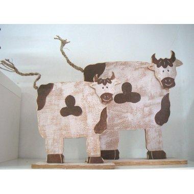 Vaca de madera 35 cms