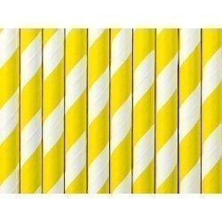 24 Pajitas de papel, espiral amarillo.