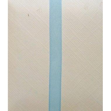 Cinta de regalo en algodón color azul bebé. 25 mm x 20 m