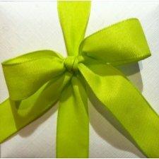 Cinta de regalo en algodón color pistacho. Varios anchos