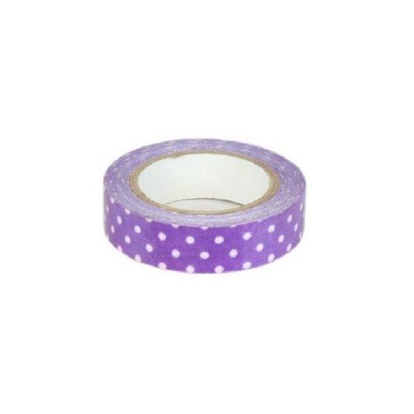 Fabric tape / tela adhesiva. Lola morado. 15mmx4.5m