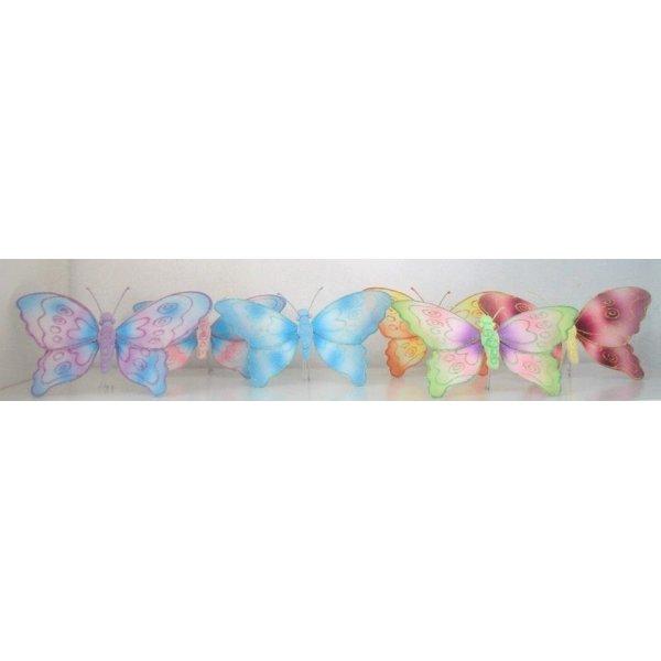4 Mariposas surtidas 21x18 cms