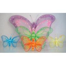 4 Mariposas, varios colores,26x20 cms