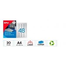 Etiquetas adhesivas Plata. C/144 Imprimibles