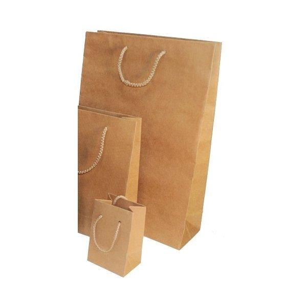12 Bolsas de papel kraft natural 18x24x8.