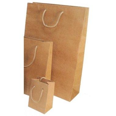 12 Bolsas de papel kraft natural 24x33x8.