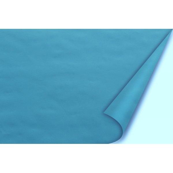 Bobina de papel turquesa a 2 caras 80 cms x 40 m.