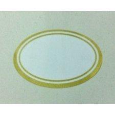 Etiqueta adhesiva, orla dorada. C/24 uds