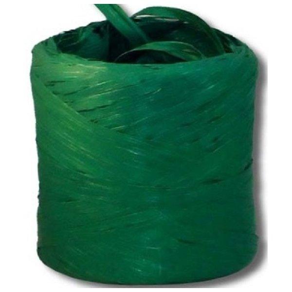 Cinta de rafia sintética. Verde oscuro. 200 m