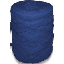 Cinta de rafia sintética. Azul marino. 200 m.