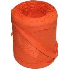Cinta de rafia sintética. Naranja. 200 m