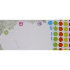 Arandela / ojal de papel adhesivo, color stdo. C/70 uds.