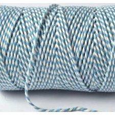 Baker twine azul claro, cordón de algodón, bicolor grueso. 100 m.