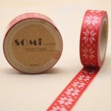 Washi tape Xmas flower. 15 mm x 10 m.
