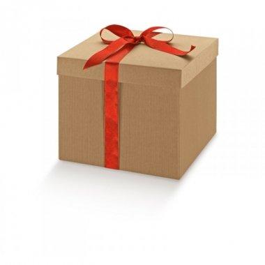 3 Cajas de regalo micro canal natural 25X25X15 cms.