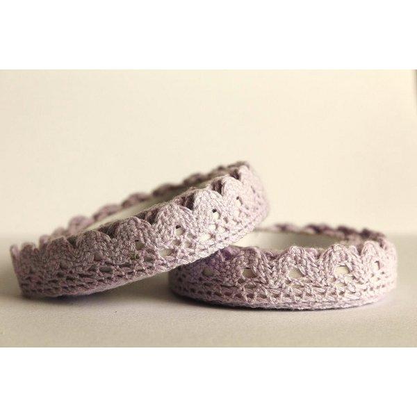 Lace tape - puntilla adhesiva. Crochet gris. 15mmx2m. Aprox. AGOTADO TEMPORALMENTE
