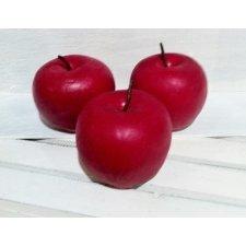 5 Manzanas rojas 8x7 cms