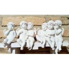 Grupo de 6 ángeles blancos