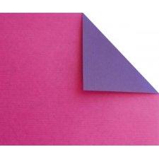 Bobina de papel de regalo, KRAFT, bicolor fucsia y morado
