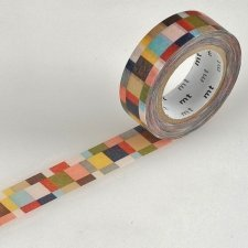 Washi tape liso MOSAICO GRIS 15 mm x 10 m