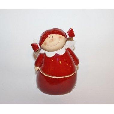 Caja muñeca terracota, roja 8x12 cms