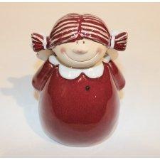 Muñeca terracota, roja 14 cms