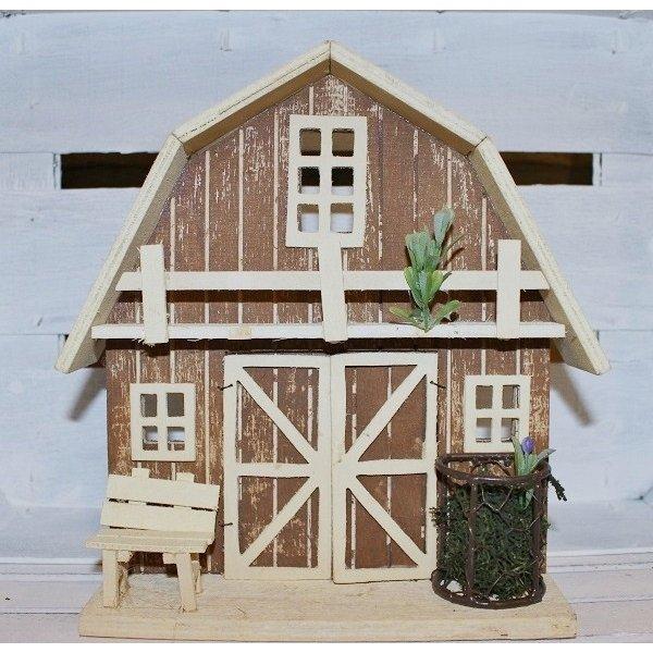 Casa-Granja de madera 24 cms