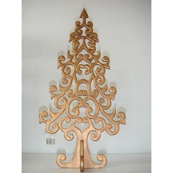 Arbol de madera. Dorado. 50 cms