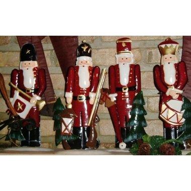 4 Soldados de latón-Cascanueces 30 cms