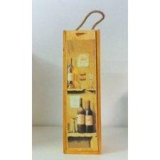 Caja botellero de madera